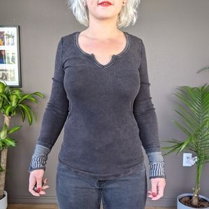 Free People Tops - Free People S black Kyoto cuff thermal top